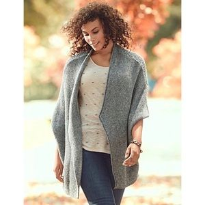 Lane Bryant Gray Open Front Cocoon Cardigan 22/24